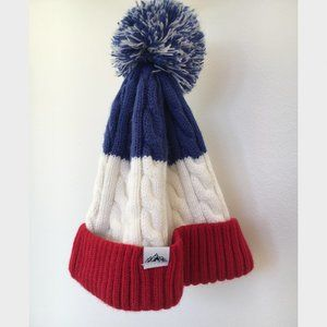 Cotton On Striped Puffball Hat